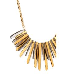 Forever 21 - Metallic Plated Faux Stone Bib Necklace - Lyst