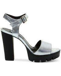 Steve Madden Metallic Women's Traviss Lug Bottom Platform Dress Sandals