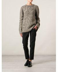 Stella McCartney - Green Crochet Embroidered Sweater - Lyst