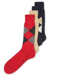Tommy Hilfiger - Multicolor 4-pack Providence Argyle Socks for Men - Lyst
