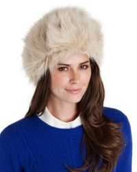 Ted Baker - Brown Faux Fur Hat - Lyst
