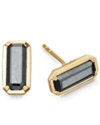 Astley Clarke | Metallic Gold-plated Hematite Prismic Stud Earrings | Lyst