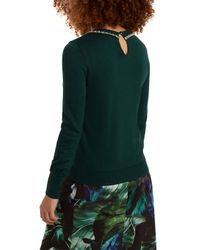 Oasis Green Necklace High Neck Top