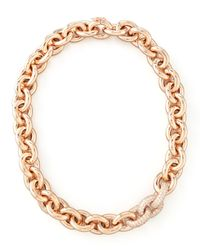 Eddie Borgo - Metallic Pave-Link Cable Chain Necklace - Lyst