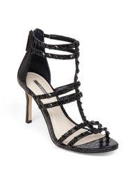 BCBGeneration | Black Dariah Studded Sandal Heels | Lyst