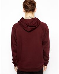 ASOS Red Hoodie in Oversized Fit for men