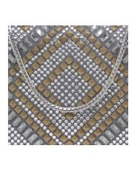 Vince Camuto Gray Love Minaudière - Jeweled Evening Clutch