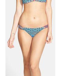 Volcom - Blue Strappy Bikini Bottoms - Lyst