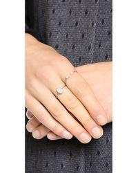 Ginette NY Metallic Twenty Ten Diamond Ring - Rose Gold/clear