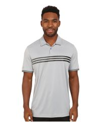 Adidas | Gray Climachill® Gradient 3-stripes Polo for Men | Lyst
