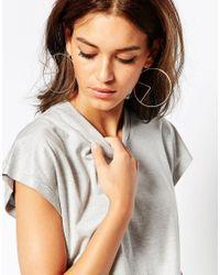 ASOS | Metallic Arrow Detail Hoop Earrings | Lyst