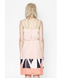 French Connection Pink Marquee Parade Strappy Dress