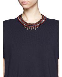 Iosselliani - Blue Multichain Collar Necklace - Lyst