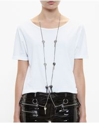 Filles A Papa | Metallic Key Embellished Chain Suspenders | Lyst
