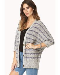 Forever 21 - Gray Weekend Wrap Cardigan You've Been Added To The Waitlist - Lyst