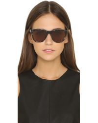Elizabeth and James - Gray Sullivan Sunglasses - Black/smoke Mono - Lyst