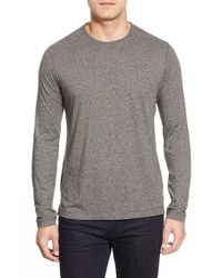 Robert Graham | Gray 'bursnell' Long Sleeve T-shirt for Men | Lyst