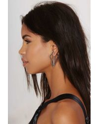 Nasty Gal | Metallic Good Angle Jacket Earrings | Lyst