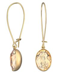 Swarovski | Metallic Puzzle Gold-plated Crystal Earrings | Lyst