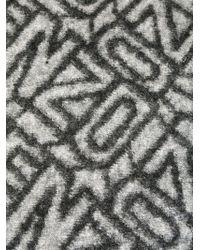 KENZO - Green Knit Scarf - Lyst