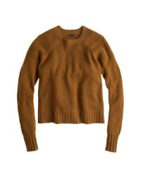J.Crew Brown Collection Cashmere Double-Stitch Sweater