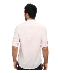 Calvin Klein | Pink Medium Voile Roll-sleeve Woven Shirt for Men | Lyst