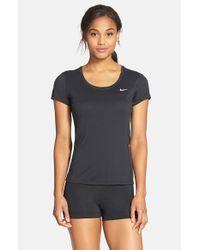 Nike | Black 'contour' Dri-fit Tee | Lyst