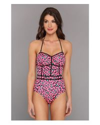 Volcom | Pink Call Me Wild One Piece | Lyst