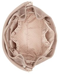 DKNY Brown Tribeca Soft Tumbled Leather Drawstring Bucket