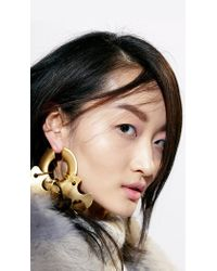 Tibi Metallic Paige Novick For Single Sculpture Earring