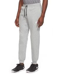 Nike - Gray 'aw77' Cuffed Sweatpants for Men - Lyst