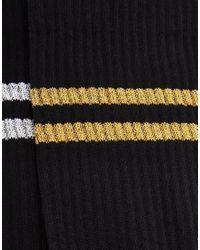 ASOS | Black 2 Pack Sports Style Socks With Glitter Stripes for Men | Lyst
