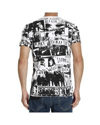 DIESEL - Black Print Crew Neck Regular Fit T-shirt for Men - Lyst