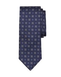 Brooks Brothers - Blue Floral And Square Tie for Men - Lyst