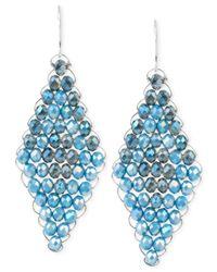Kenneth Cole Blue Woven Drop Earrings