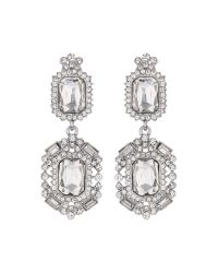 Mikey | White Diamond Shape Crystal Clip On | Lyst