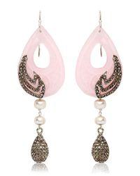 Katerina Psoma Pink Jade Earrings