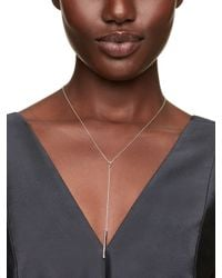 kate spade new york - Metallic Dainty Sparklers Bar Y Necklace - Lyst