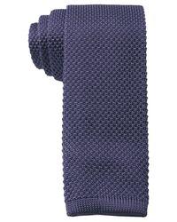Tommy Hilfiger Blue Knit Solid Slim Tie for men