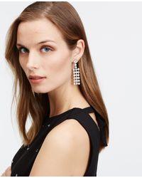 Ann Taylor - Metallic Crystal Chandelier Earrings - Lyst