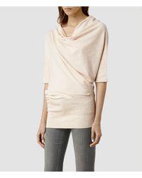 AllSaints | Pink Tilda Sweater | Lyst