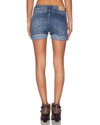 One Teaspoon Blue Charger Jean Short