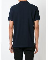 Paul Smith Blue Zebra Logo Appliqué Polo Shirt for men