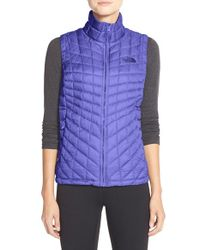 The North Face - Purple 'thermoball' Primaloft Vest - Lyst