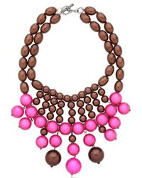 Lucia Odescalchi - Pink R.S.V.P Necklace - Lyst