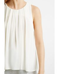 Forever 21 - Natural Pleated Top - Lyst