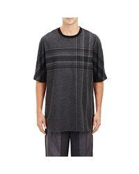 3.1 Phillip Lim Black Shirttail-hem T-shirt for men