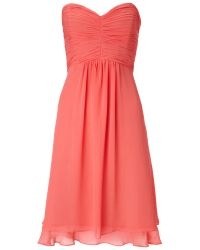 Ariella Orange Raina Chiffon Bandeau Dress