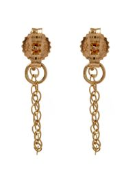 Melissa Joy Manning | Metallic Gold And Garnet Chain Stud Earrings | Lyst