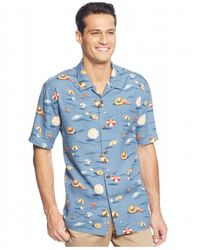 Tommy Bahama | Blue Beach-print Short-sleeve Shirt for Men | Lyst